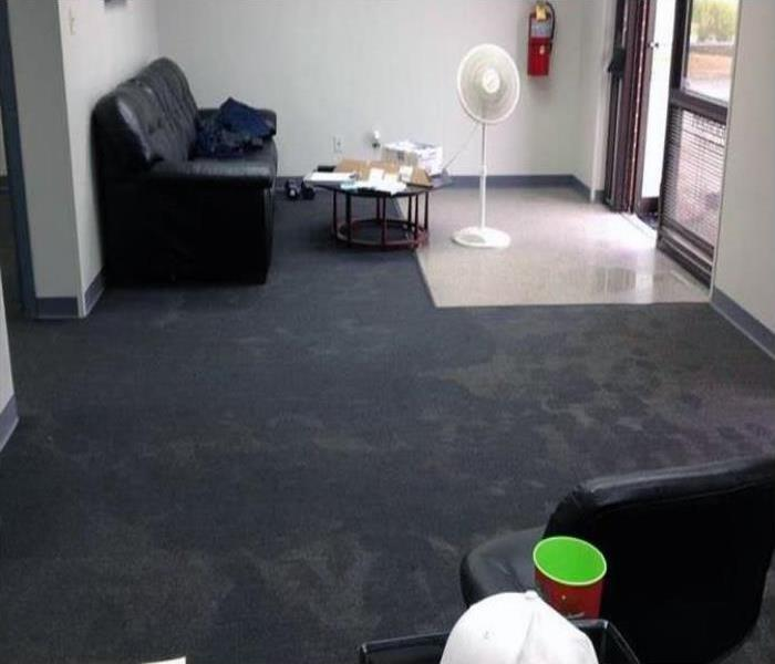 Commercial Water Damage Restoration In Uptown Phoenix Before