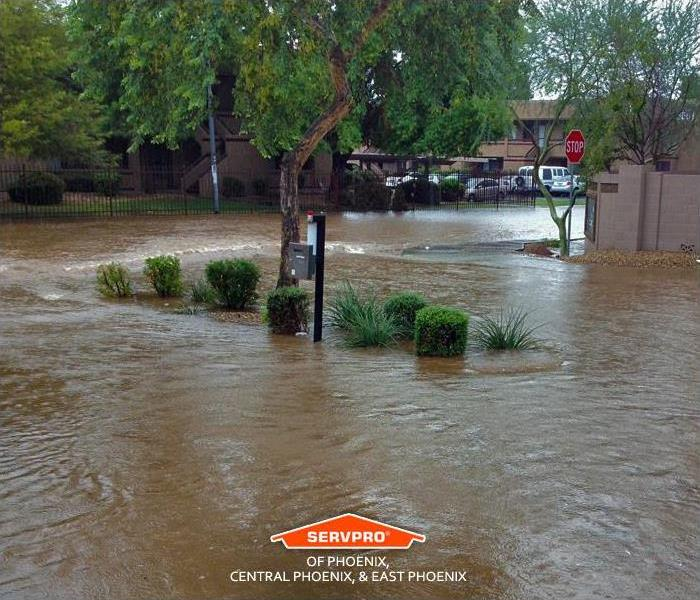 High Flood Waters from Monsoon Storm in Phoenix