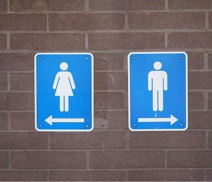 Public bathrooms can experience sewage issues